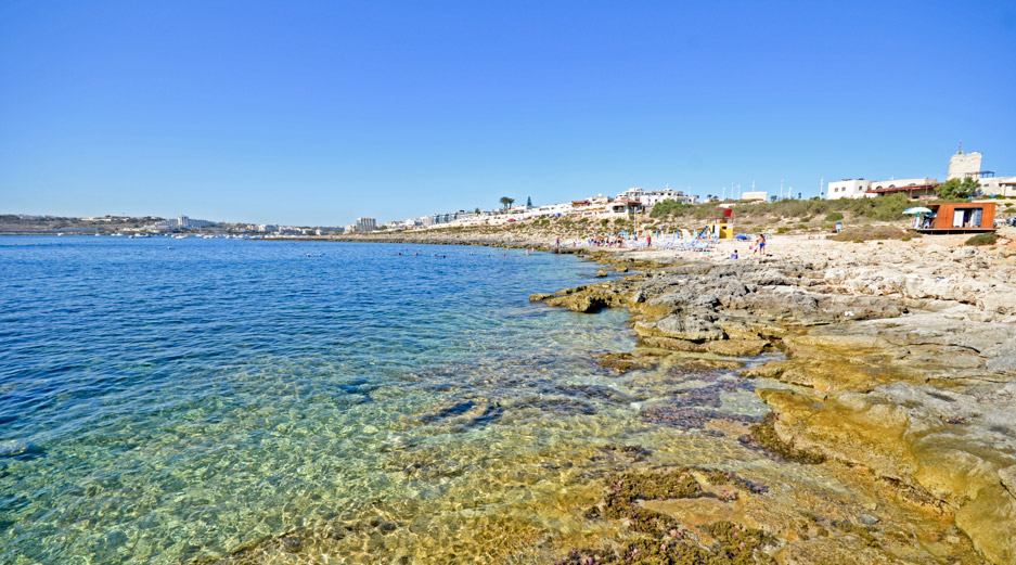 Beaches Near Qawra Malta - Fra Ben Beach