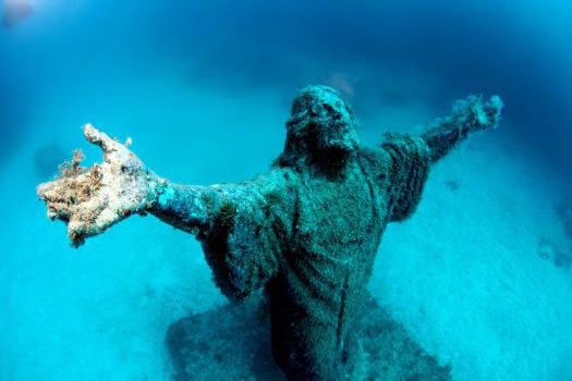 Imperial Wreck with Statue of Christ, Malta
